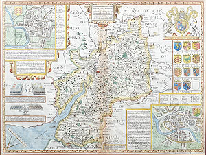Antique Map of the Gloucestershire by John Speed for sale