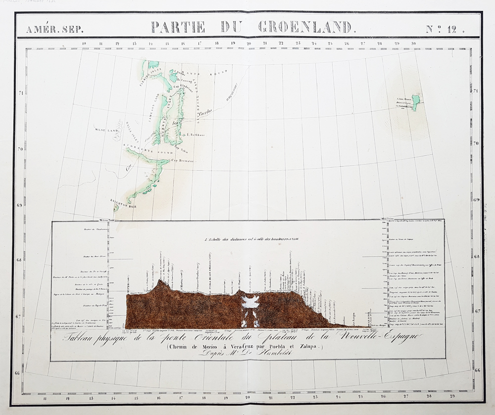 Greenland antique map for sale