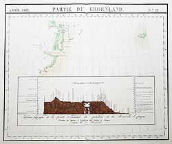 Rare 19th century map of Greenland for sale