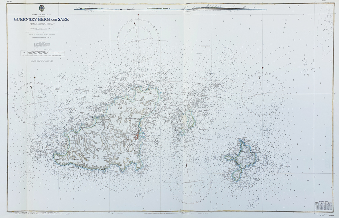 Admiralty chart of Guernsey Herm and Sark