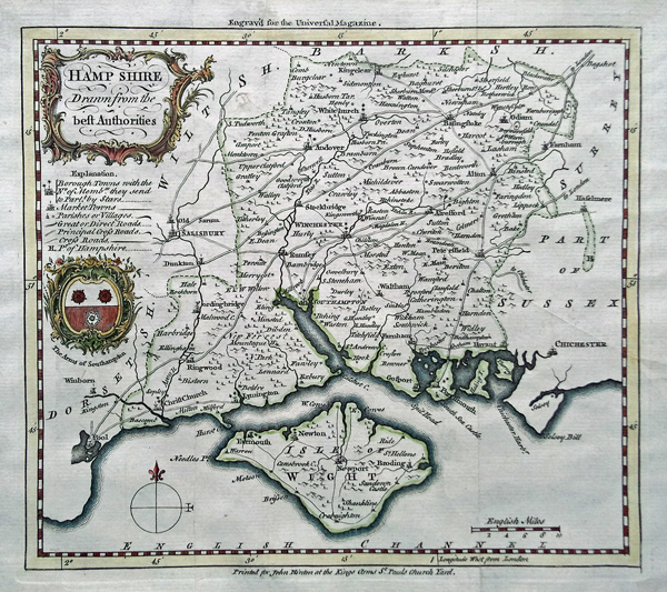 Antique Map of Dorsetshire