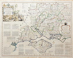 Antique map of Hampshire for sale by Thomas Kitchin