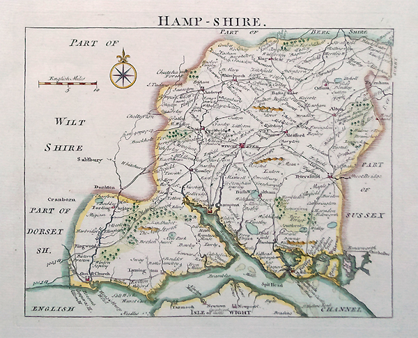 Hampshire by John Rocque