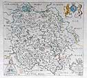 Herefordshire map by Saxton Hole