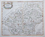 Hertfordshire map for sale