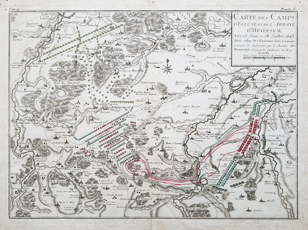Antique map of the Battle of Heylesem