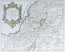 Antique Map of the Holyland by Thomas Kitchin for sale