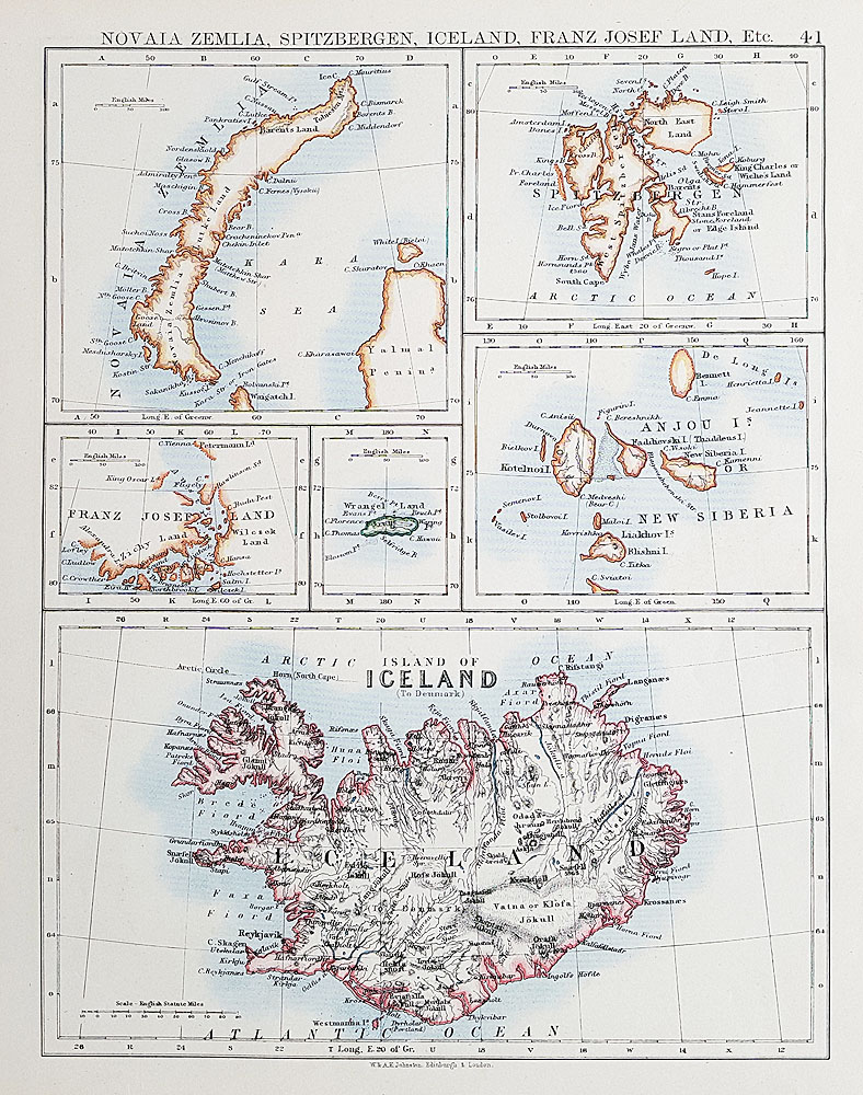 Antique map of Iceland for sale