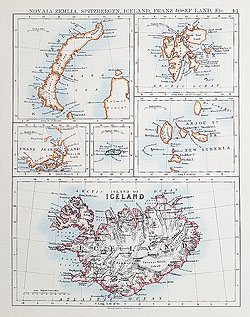 Iceland antique map