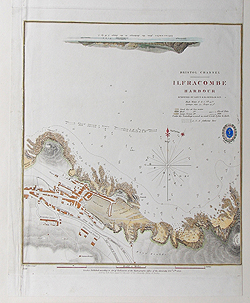 Ilfracombe antique nautical chart for sale