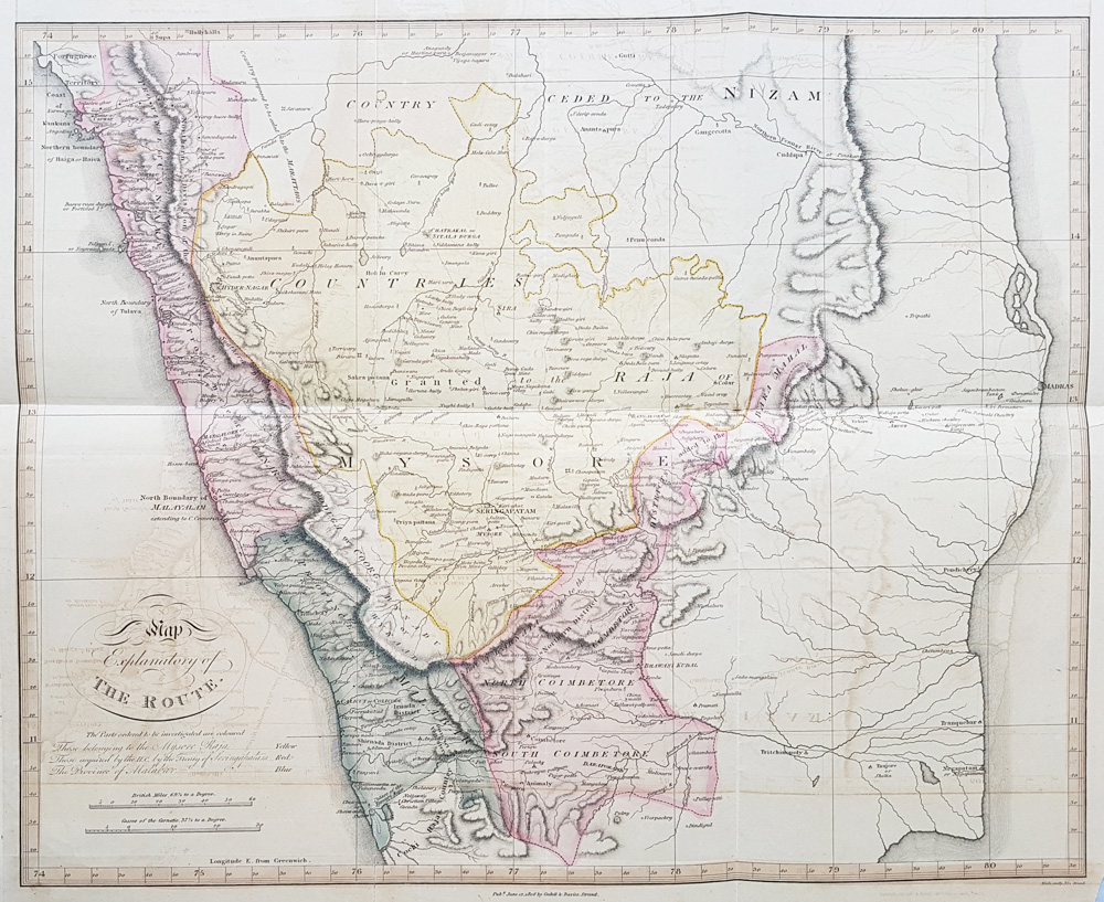 18th century map of Central India