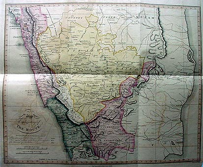 Antique map of Central India