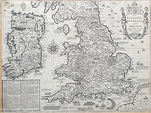 John Speed Antique Map of the Britain for sale