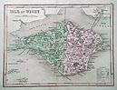 Isle of Wight antique map