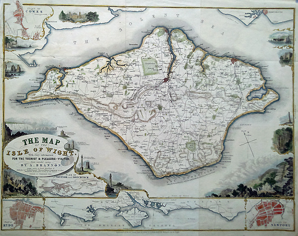 Scarce 19th Century Antique Map Isle Of Wight By A