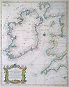 Antique Chart of the Irish Sea by Beale dated c. 1730