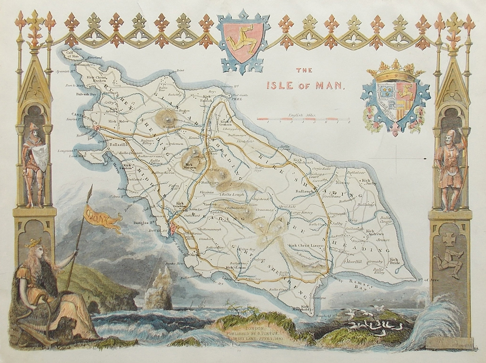 Isle of Man Map - Thomas Moule for sale