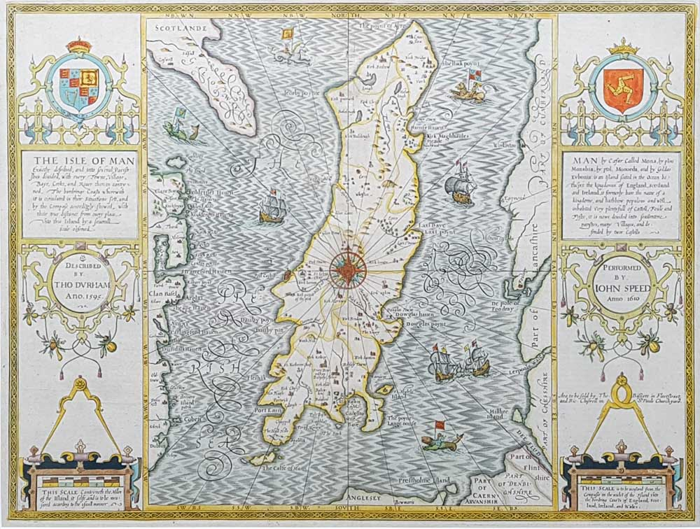 Antique map of IOM by Speed