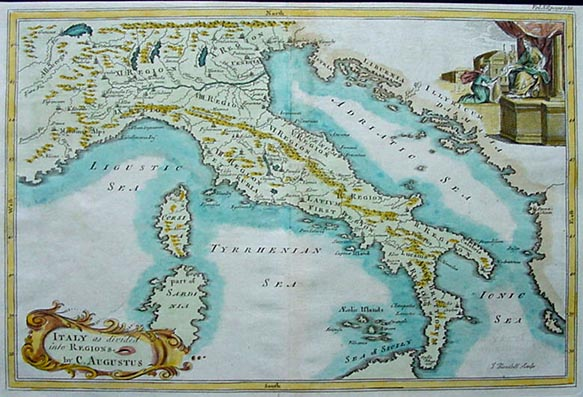 Map of Italian Regions by Augustus