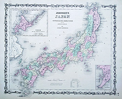 Japan antique map for sale