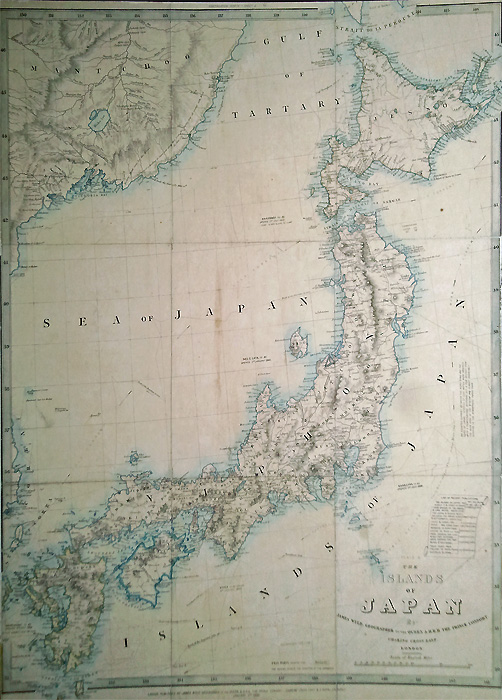 Old map of Japan 1859