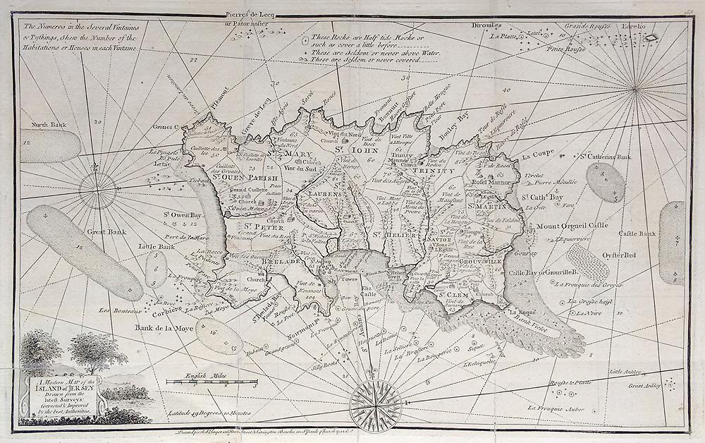 Map Of Uk Including Jersey.18th Century Antique Chart Channel Islands Joseph Ellis 1766