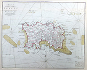 Jersey 19th century original map