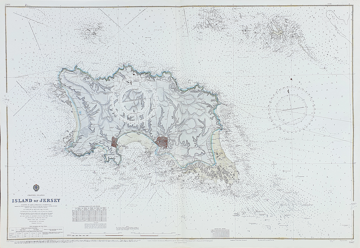 Admiralty chart of Jersey
