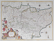 Kent map by Jansson for sale