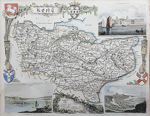 moule map of Kent for sale