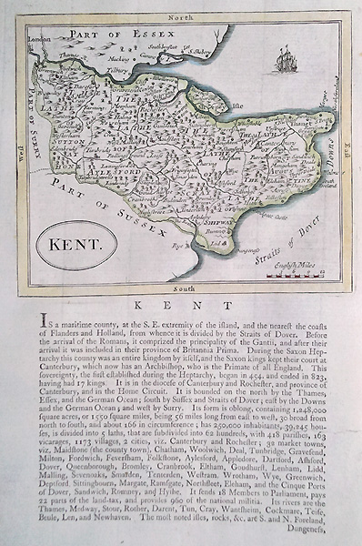 Kent 18th century map