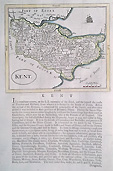Old map of Kent by Seller Grose