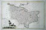 Kent - 18th century antique map by Zatta