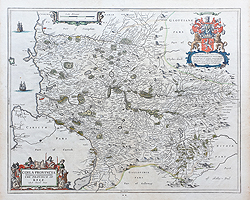 Kyle Scotland 17th century antique map