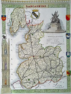 moule lancashire map for sale