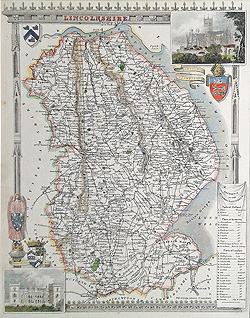 moule map of Lincolnshire for sale