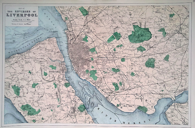 Liverpool antique town plan