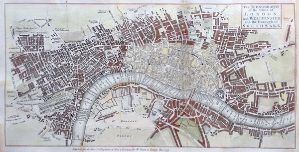 London antique map