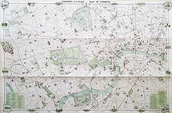 London antique street map