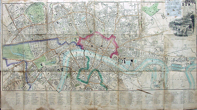 Street Map London Uk.Booth S Antique Street Map Of London Dated 1846