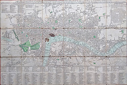 John Cary Victorian Street map of the City of London for sale