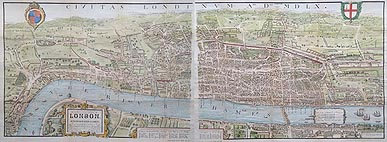 London in 1560 map