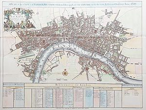London antique map for sale