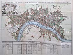 Antique Map of London map for sale Cassels