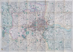Antique Street map of London for sale - B R Davies