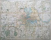 Victorian London City map for sale by Davies