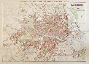 London Exhibition antique map for sale