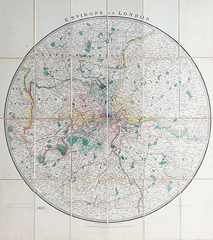Antique Map of London by James Wyld for sale