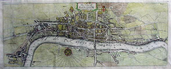 Old And Historical Antique Maps Of The City Of London Fronm The 18th And 19th Centuries