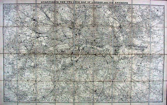 antique street map of london and environs